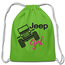 Jeep Girl Drawstring Bag - clover