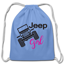 Jeep Girl Drawstring Bag - carolina blue