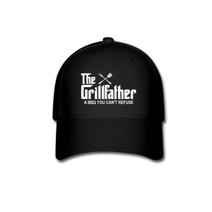 The Grill Father A BBQ You Cant Refuse Baseball Cap - black