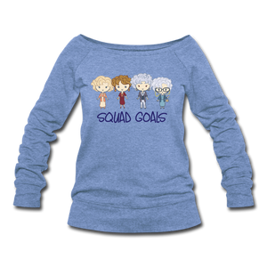 Squad Goals Wideneck Sweatshirt - heather Blue
