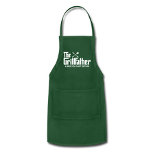 The Grill Father a BBQ You Can't Refuse Apron - forest green