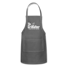 The Grill Father a BBQ You Can't Refuse Apron - charcoal
