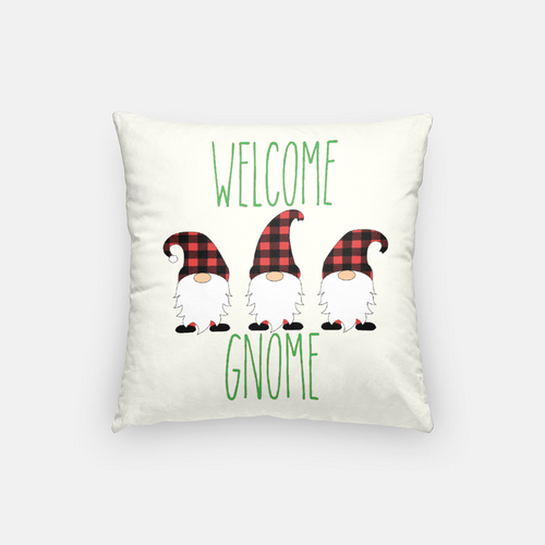 Welcome Gnome | Pillow Case | Christmas Holiday
