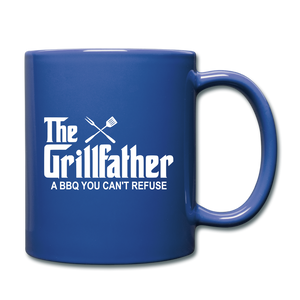 The Grill Father A BBQ You Can't Refuse Coffee Mug - royal blue