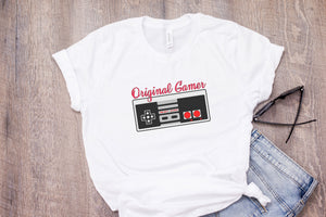 Original Gamer Womens Tee Shirt 90s Games Nintendo NES