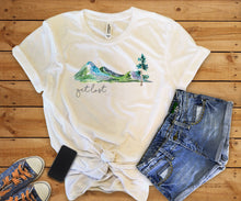 Get Lost | Womens Tee Shirt | Vintage | Forest