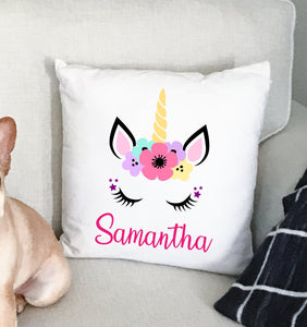 Unicorn Girls Personalize Custom | Pillow Case | 15 x 15