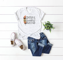 Grateful Thankful Blessed | Womens Tee | Feather | Marble