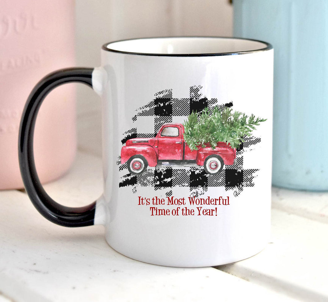 Its the Most Wonderful Time of the Year | Coffee Mug | Holiday | Christmas Truck