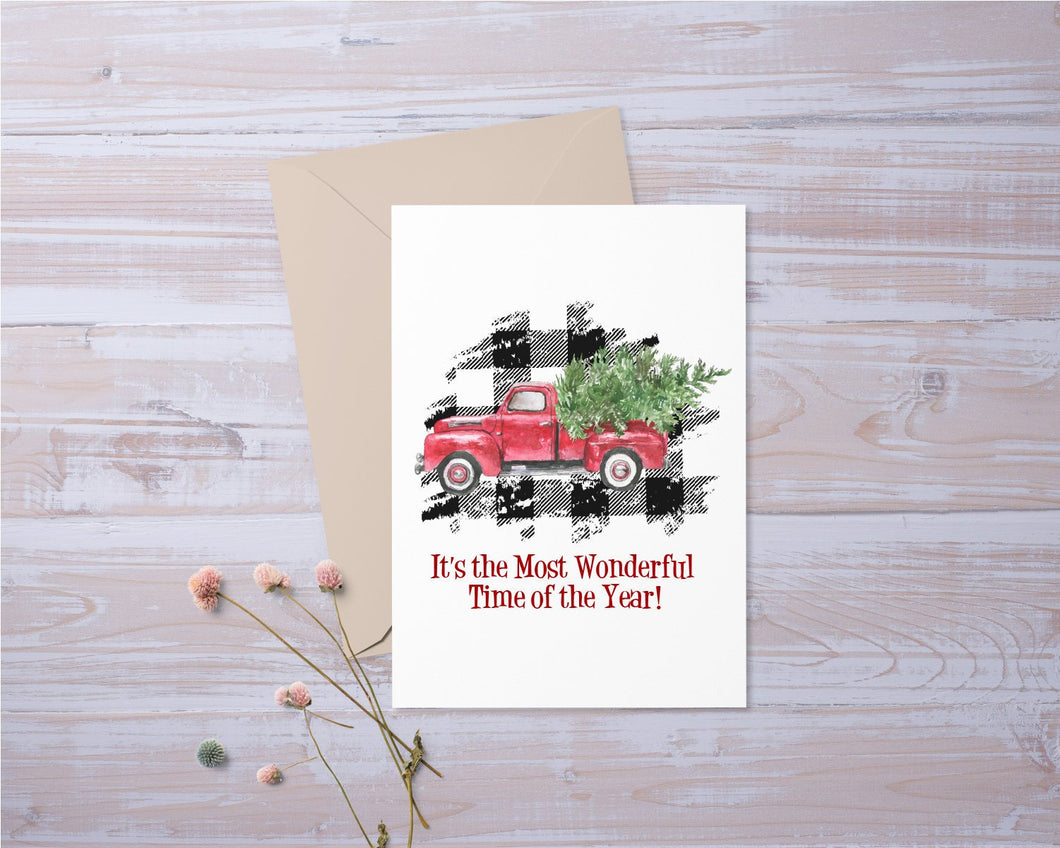 Its the Most Wonderful Time of the Year | Christmas Card | Holiday | Greeting Card | Gift