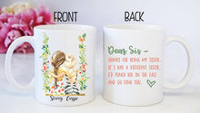 Sisters Swing | Custom Personalize |  Best Friends | Coffee Mug | Floral