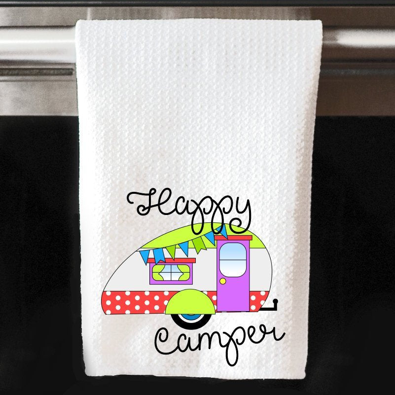 Happy Camper Waffle Towel | Kitchen |