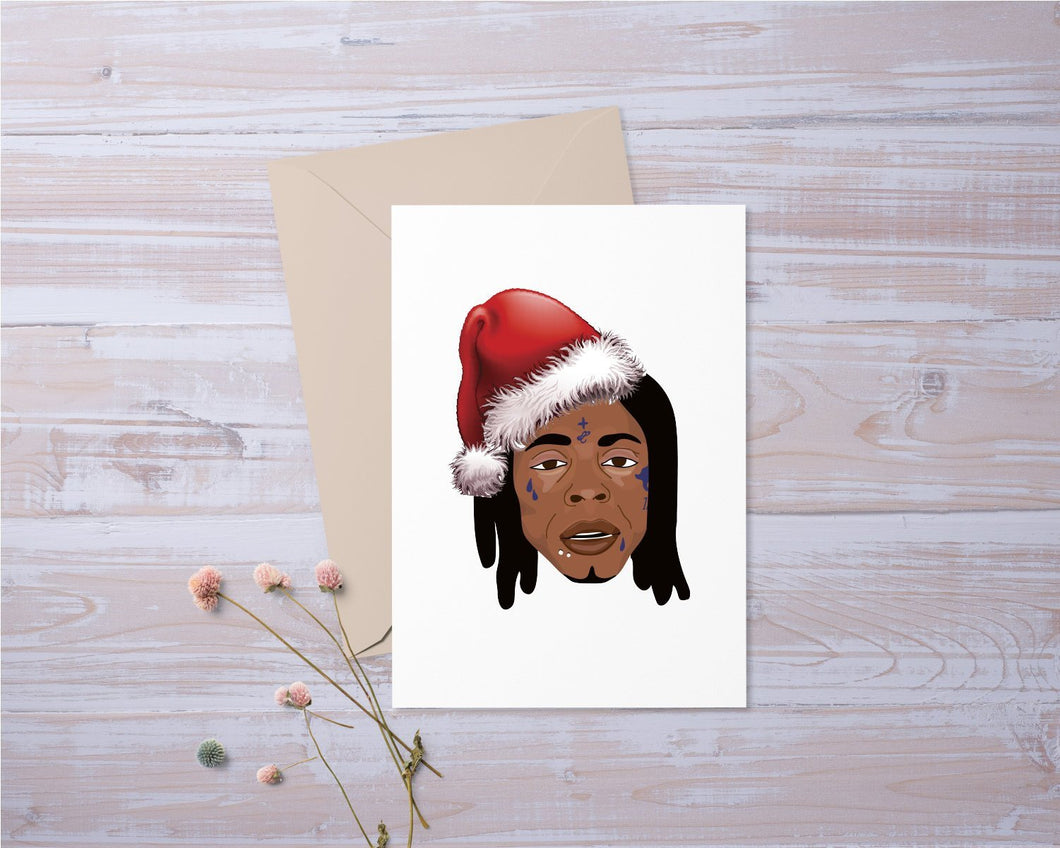 Lil Wayne Christmas Card Santa | Funny | Greeting Card | Gift