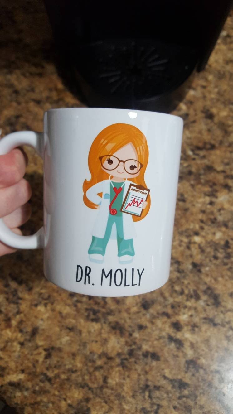 Personalized Custom Doctors |  Coffee Mug | Glasses