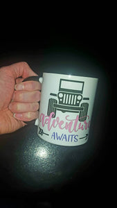 Adventure Awaits Jeep Girl | Coffee Mug | Truck