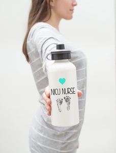 Coffee Scrubs and Rubber Gloves | Aluminum Water Bottle | Nurse
