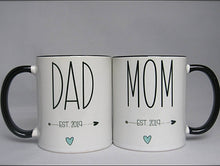 Mom and Dad Est Established Matching | Coffee Mug | New Parents