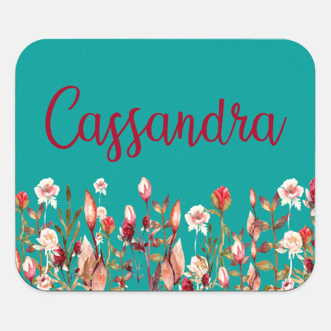 Custom Name | Mouse Pad | Floral | Personalize