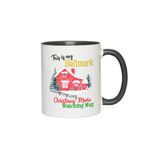 This is my Hallmark Christmas Movie Watching Accent Color Mug