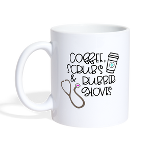 Coffee Scrubs and Rubber Gloves Coffee/Tea Mug - white
