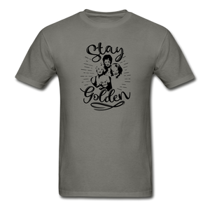 Stay Golden Tee T Shirt - charcoal