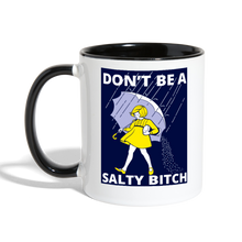 Dont Be a Salty Bitch Colored Coffee Mug - white/black