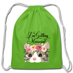 I'm getting Married Cotton Drawstring Bag Engaged Wedding Marriage Husband Wife Wifey Hubby - clover