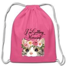 I'm getting Married Cotton Drawstring Bag Engaged Wedding Marriage Husband Wife Wifey Hubby - pink