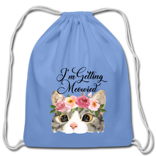 I'm getting Married Cotton Drawstring Bag Engaged Wedding Marriage Husband Wife Wifey Hubby - carolina blue