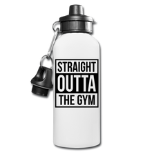 Straight Outta The Gym Water Bottle - white
