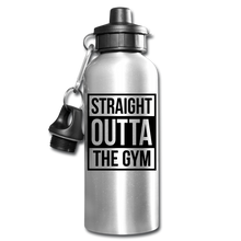 Straight Outta The Gym Water Bottle - silver