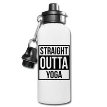 Straight Outta Yoga Water Bottle - white