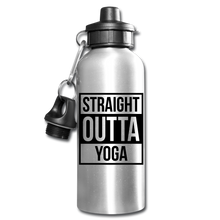 Straight Outta Yoga Water Bottle - silver
