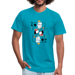 Queen RGB Judge Unisex Jersey T-Shirt Tee - turquoise