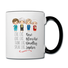 Live Like Girls Stay Golden Contrast Coffee Mug - white/black