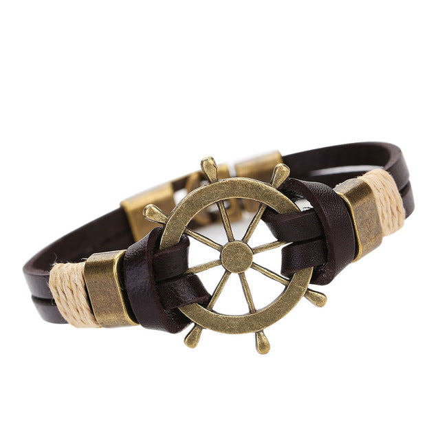 Antique Nautical Wheel Bracelet