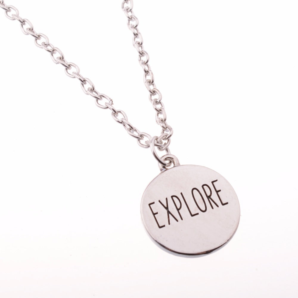 EXPLORE Travel Necklace
