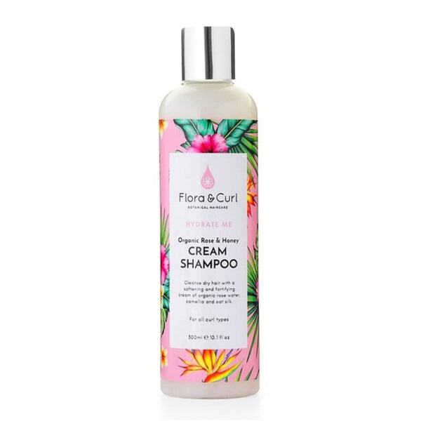Organic Rose & Honey Cream Shampoo Shampoing