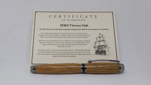 HMS Victory fountain and ball point pens made with Oak from HMS Victory.