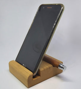 Wooden phone desk stand with pen rest. - DevonPens