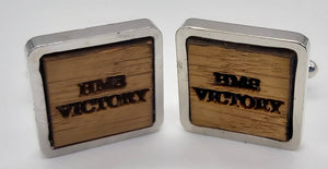 Cuff Links in Oak taken from HMS Victory freeshipping - DevonPens