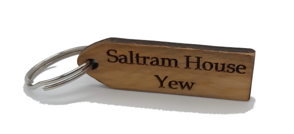 Keyring in Yew from Saltram House Plymouth freeshipping - DevonPens
