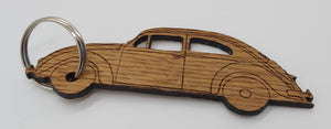 Saltram House Oak Keyring in the shape of a VW Beetle - DevonPens