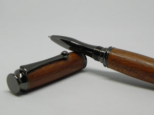Rollerball pen in African Mahogany from W2180 Railway carriage - DevonPens