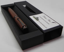 Fountain pen in African Mahogany from W2180 1950's Railway carriage - DevonPens