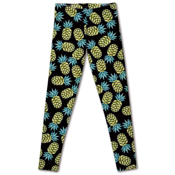 Pineapple leggings-Leggings and...-The Pink Dumbbell