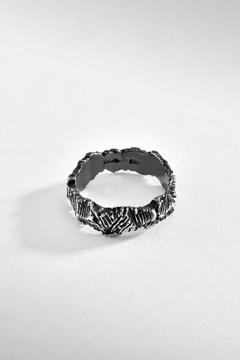 Tough And Rough Silver Ring