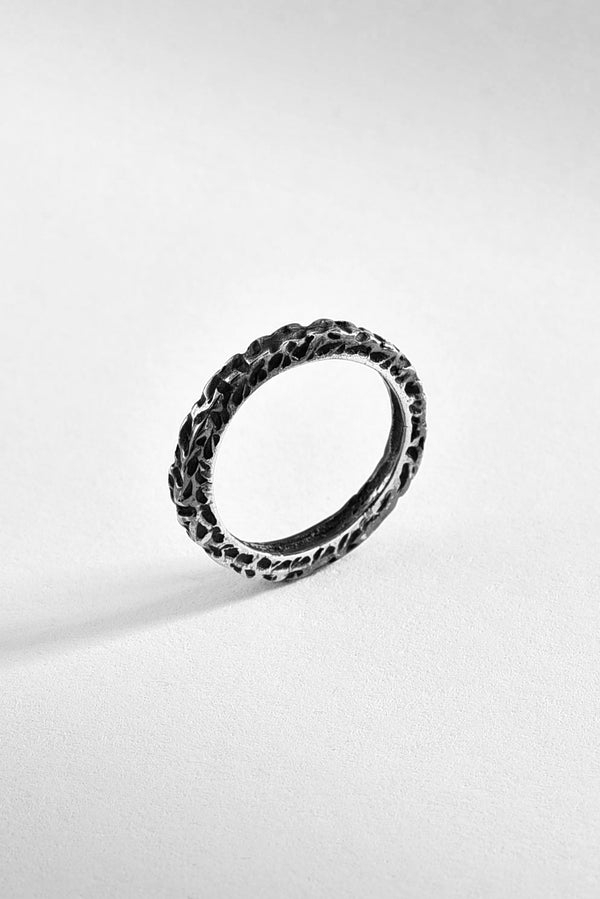 Vintage Inspired textured Sterling Silver Ring