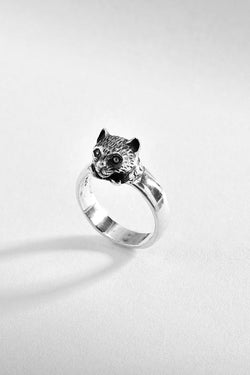 Traditional Cat Sterling Silver Ring
