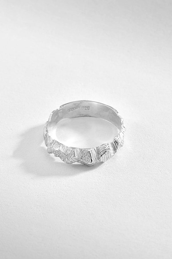 Rough Textured Sterling Silver Ring